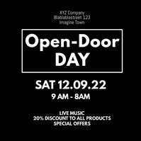 Open Door Day Opening Explosion Celebration
