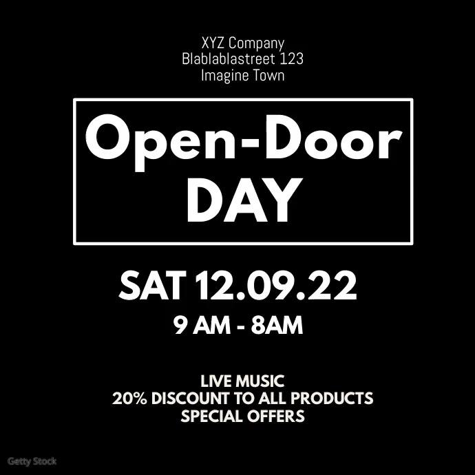 Open Door Day Opening Explosion Celebration