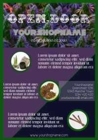 open door days flyer template a4 dispensary