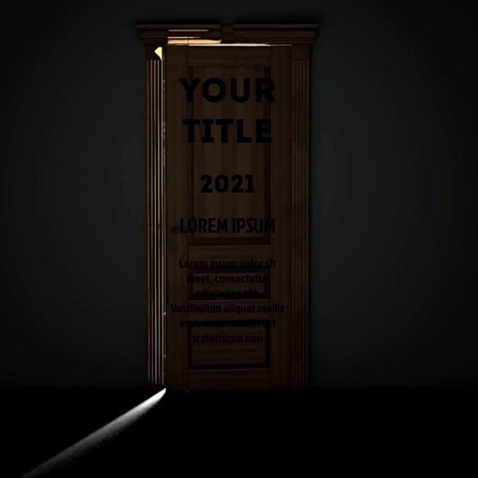 OPEN DOOR VIDEO AD Vierkant (1:1) template