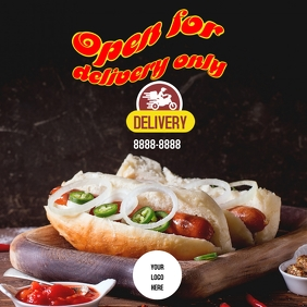 Open for delivery hotdoog