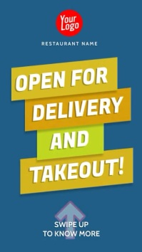 Open for delivery takeout instagram story Instagram-verhaal template