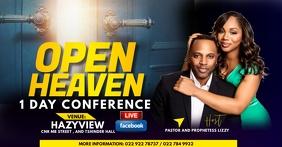 Open heaven flyer Facebook Gedeelde Prent template