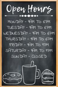 Open Hours Poster Template โปสเตอร์