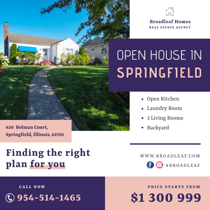 Open House Coming Soon Real Estate Ad Instagram Post template