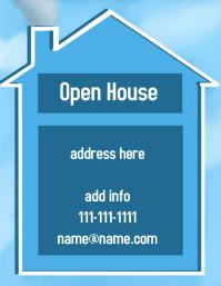 open house Volante (Carta US) template