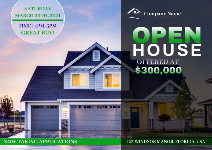 Open House Event Postal template