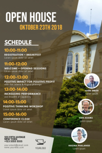 Open House event Schedule template