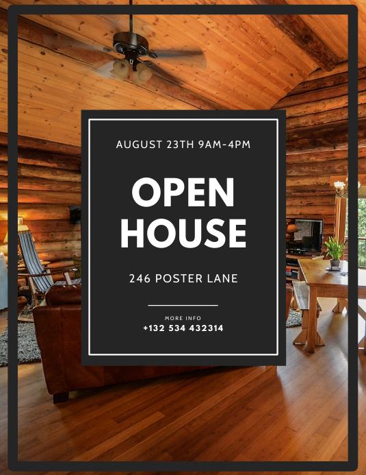 Open House Flyer Design Template
