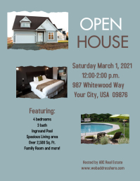 Open House Flyer Pamflet (Letter AS) template