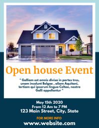 open house flyer real estate design template