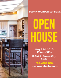 Open house flyer real estate