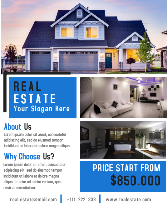 Open House Flyer Template Design