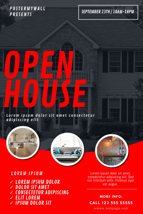 Open house flyer template postermywall - New home design center checklist ...