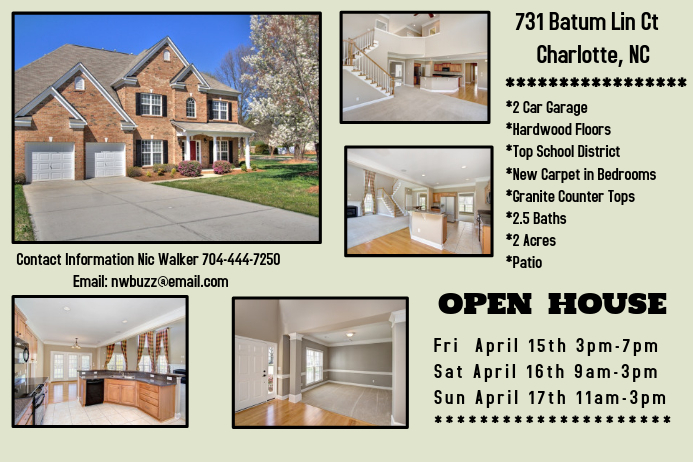 Open House For Sale Template PosterMyWall - School open house flyer template free