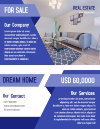 Open House Property Flyer Real Estate Poster