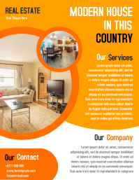 Open House Property Flyer Real Estate Poster template