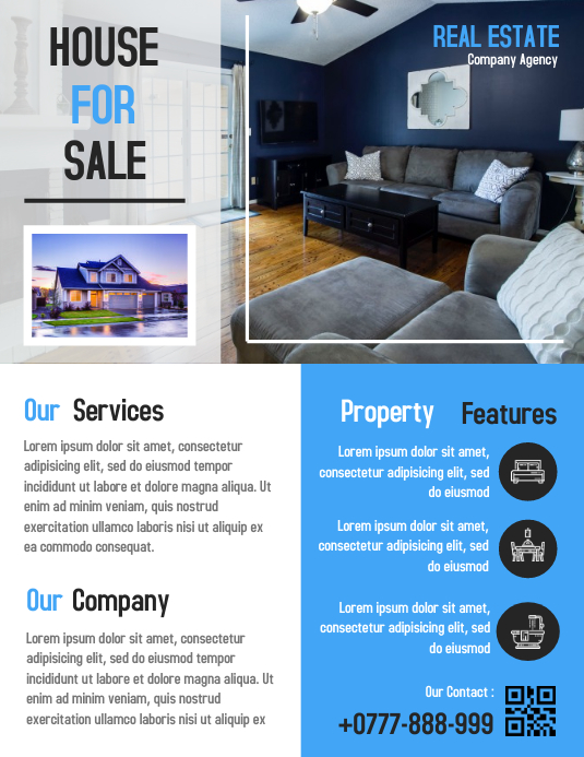 Open House Property Flyer Real Estate Poster Template | PosterMyWall