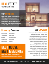 Open House Property Flyer Template Design