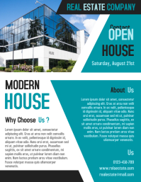 Open House Real Estate Business Flyer and Poster Template 传单(美国信函)