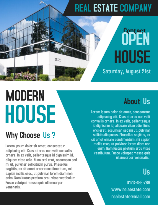 Open House Real Estate Business Flyer and Poster Template