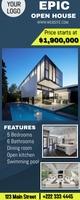 Open House real estate Bannière rétractable 2 pouces x 5 pouces template