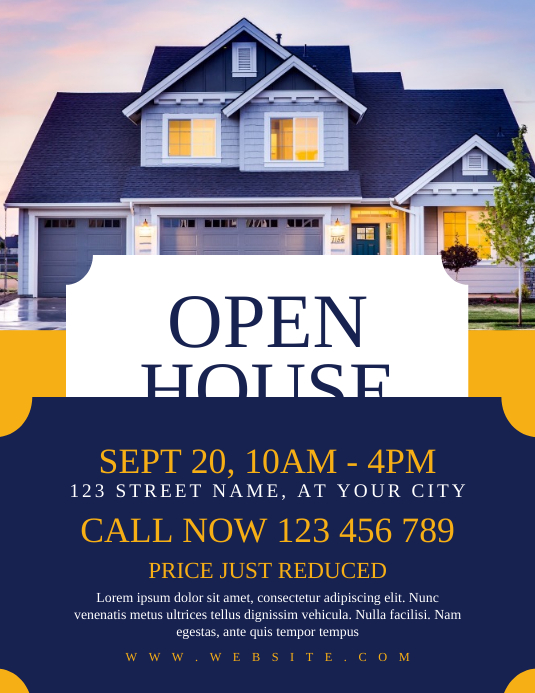 Open House Real Estate Flyer Template PosterMyWall