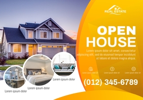Open House Real Estate Flyer A4 template