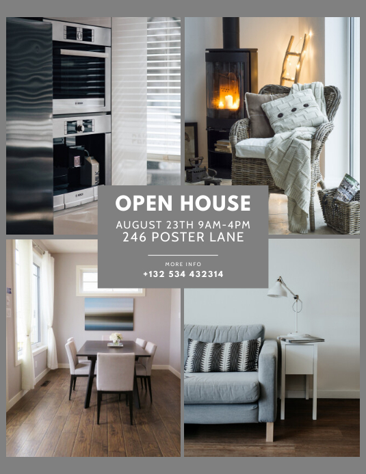 Open House Real Estate Flyer Template