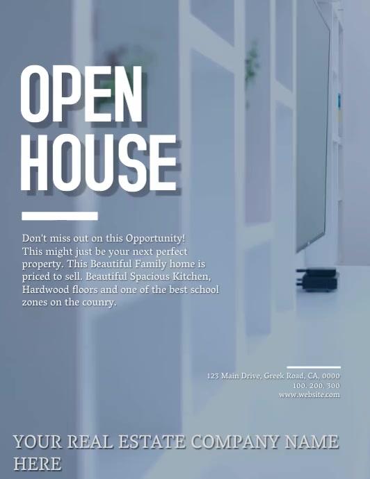 Open House / Real Estate Flyer template 传单(美国信函)