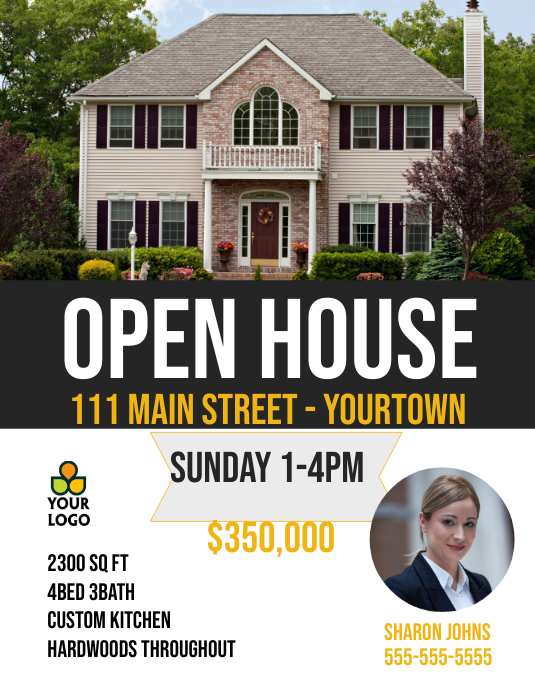 Open House Real Estate House Sale Flyer