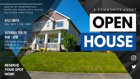 Open House Real Estate Signage Ad Facebook-covervideo (16:9) template