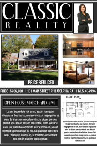 High Quality Open House Real Estate With Open House Flyer Template