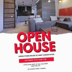 Open House Video Template Square (1:1)