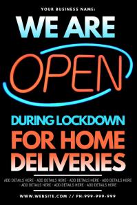 Open Lockdown Poster