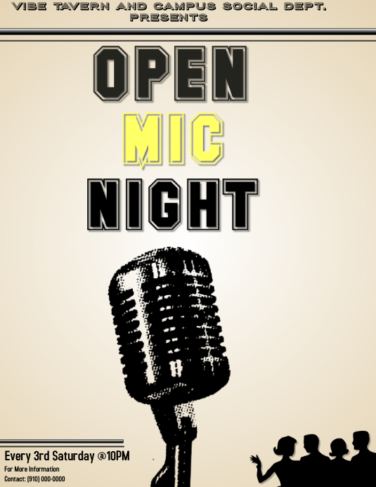 Open Mic Template