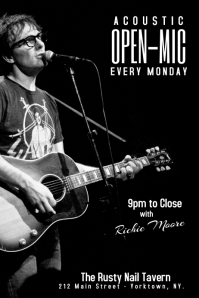 open-mic poster