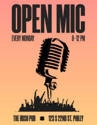 OPEN-MIC - Gradient Knockout flyer