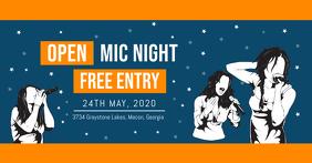 Open Mic Invitation Facebook Banner