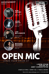 Open mic Karaoke stand up comedy flyer
