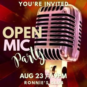 Open Mic Karaoke Video Template