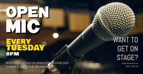 Open Mic Microphone Stage Show Banner header