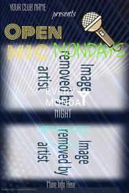Open Mic Monday Poster Template