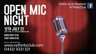 Open Mic night Comedy Show Event Stand Up Ad Ekran reklamowy (16:9) template