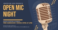 Open Mic Night Facebook Event Banner template