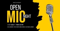 OPEN MIC NIGHT FLYER Facebook Shared Image template