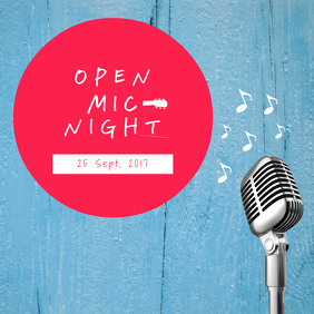 Open mic Night template