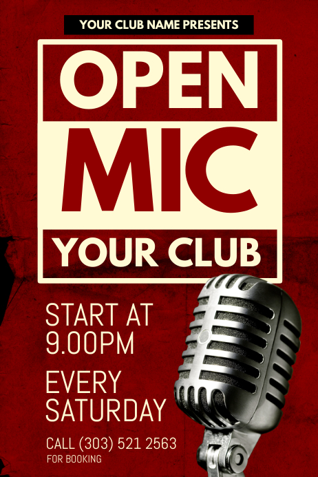 open mic poster template