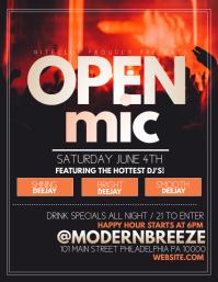 open mic Flyer (US Letter) template