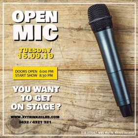 OPEN MIC Stand up Comedy Facebook Instagram Post
